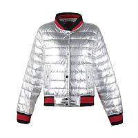Куртка тонкий синтепон, серебро и золото. Код-9