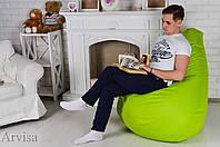 Кресло мешок груша120x75 Oxford 600d салатовое