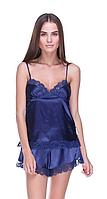 Шелковый комплект Serenade, синий (размеры S, M, L, XL)