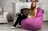 Кресло груша мешок oxford 120х75 XL розовое