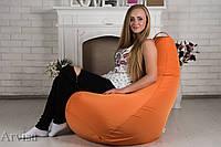 Кресло груша мешок 120х75 XL оранжевое