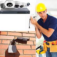 Установка системы видеонаблюдения (Дом, Квартира, Школа, Магазин и прочее)