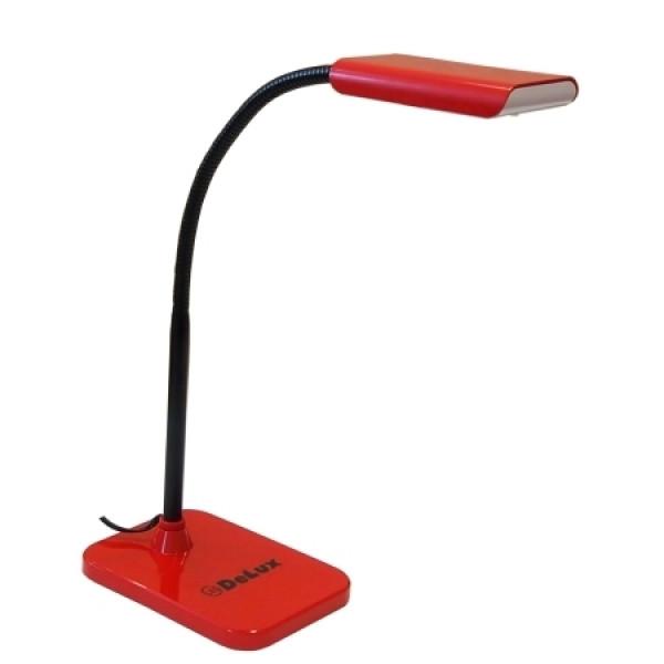 Настольная лампа DELUX TF-230 3.5 Вт LED Красный