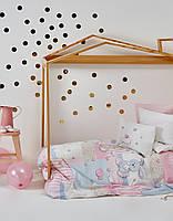 Комплект постельного белья для новорожденных Karaca Home Honey Bunny Mavi