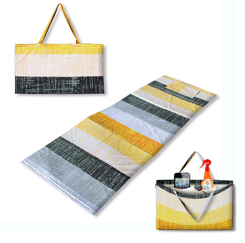 """Коврик-сумка  """"RELAX"""" на липучке, летний узор, 1024-sun"""