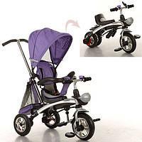 Велосипед M 3212A-2 (1шт)три кол.резина,трансформер(беговел),поворот,быстросъем.колеса,фиолетовый (шт.)
