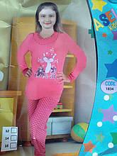 """Пижама для девочки """"Подросток"""" №1834 (штаны)"""