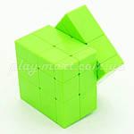 Зеркальный кубик Рубика 3х3 QiYi Mirror block Желтый и Зеленый, фото 6