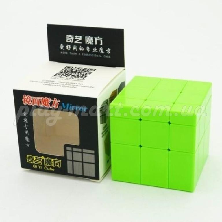 Зеркальный кубик Рубика 3х3 QiYi Mirror block Желтый и Зеленый