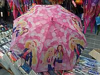 Зонтик розовый для девочек с Барби