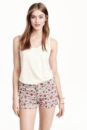 Цветочные джинсовые шорты H&M, фото 2