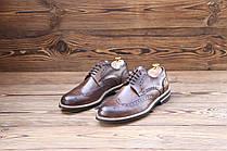 Итальянские мужские кожаные туфли броги 44 размер