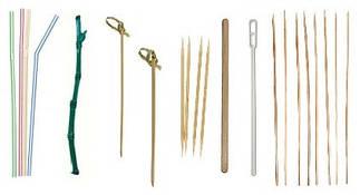 Трубочки,мешалки, зубочистки, шпажки