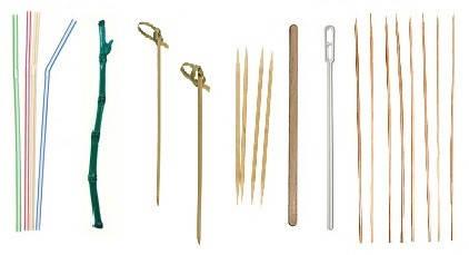 Трубочки, зубочистки, шпажки