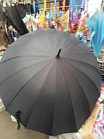 Мужской черный зонтик трость