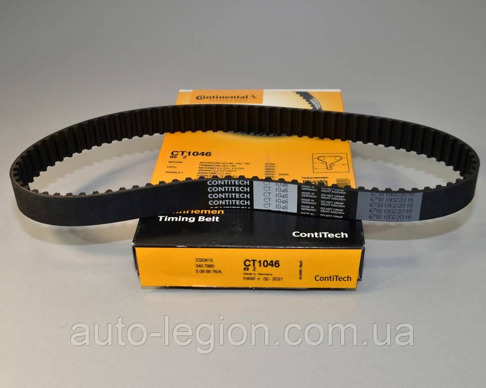 Ремнь ГРМ на Renault Master II  1998->2010, 2.2dCi + 2.5dCi (89z) —  Contitech  (Германия) - CT 1046