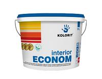 Краска интерьерная Kolorit Interior Econom (9 л)
