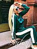 Женский трикотажный спортивный комстюм с лампасами