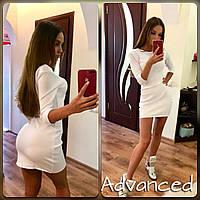 Платье короткое выше колена мини белое