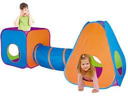 Игровая палатка 3в1 I-PLAY (домик, тоннель и вигвам)