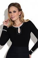 Женская блузка Milena Eldar черного цвета. Коллекция осень-зима 2017-2018.