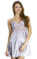 Шёлковая сорочка Serenade, серебро (размеры S, M, L, XL)