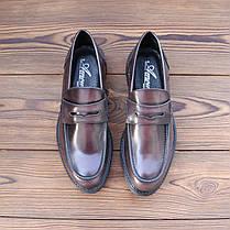 Итальянские мужские кожаные туфли лоферы 40 размер