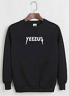 Свитшот Kanye West - Yeezus черный с белым логотипом,унисекс (мужской,женский,детский)
