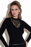 Женская блузка Lisa Eldar черного цвета. Коллекция осень-зима 2017-2018.