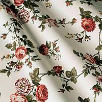 Шторы в стиле прованс вьющаяся роза  120417