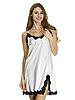 Шёлковая сорочка Serenade, арт. 102, цвет экри-черный