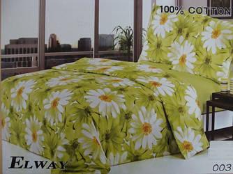 Сатиновое постельное белье евро ELWAY 003-1