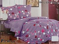 Сатиновое постельное белье евро ELWAY 3803
