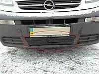 Зимняя накладка (глянцевая) Opel Vivaro/Renault Trafic 2006-2015 (бампер низ)
