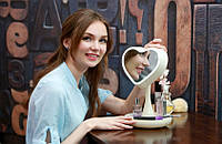 Зеркало для макияжа с подсветкой и тайником Сердце White