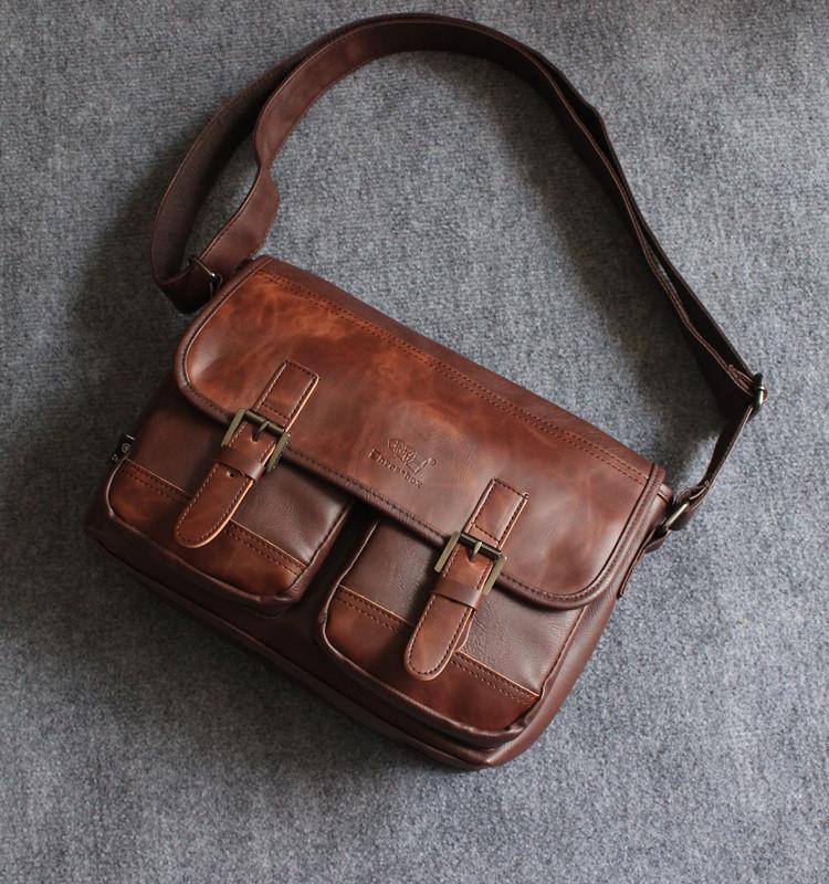 Мужская кожаная сумка. Модель 63239