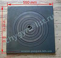 Плита чугунная под казан 550х550 мм большая, фото 1