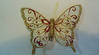 Бабочка декоративная на прищепке