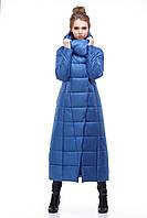 Длинная стеганная зимняя куртка зима 2018 , размеры 44-54
