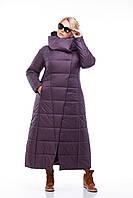 Женская зимняя очень теплая куртка-пуховик до пяток больших и маленьких размеров (42-54)