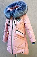 Зимнее пальто с меховой подстежкой.
