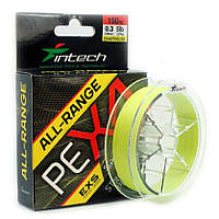 Шнур Intech ALL-RANGE PE X4 150м #0.8/0.148мм 12lb/5.45кг