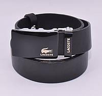 Кожаный ремень автомат мужской Lacoste 8006-314-g черный, коричневый, темно-синий