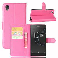 Чехол Sony Xperia L1 / G3311 / G3312 / G3313 книжка PU-Кожа розовый