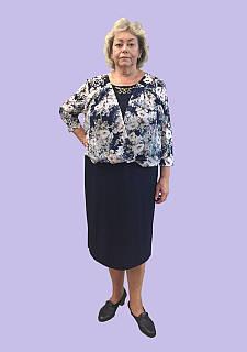 """Женское платье на каждый день и на выход """" Шифон назапах"""", р. 54-62. Модель № 103"""