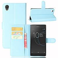 Чехол Sony Xperia L1 / G3311 / G3312 / G3313 книжка PU-Кожа голубой