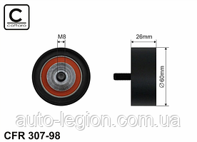Паразитный (ведущий) ролик ремня генератора на Renault Master II 98->2010 - 2.5D —Caffaro (Польша) - CFR307-98