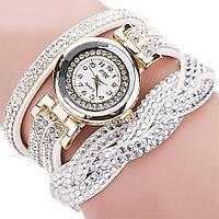 Женские часы со стразами на длинном ремешке (White)