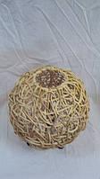 Светильник плетеный из ротанга Шар размер 25*28