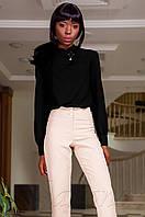 Офисная женская черная блуза Vitton Jadone Fashion 42-48 размеры